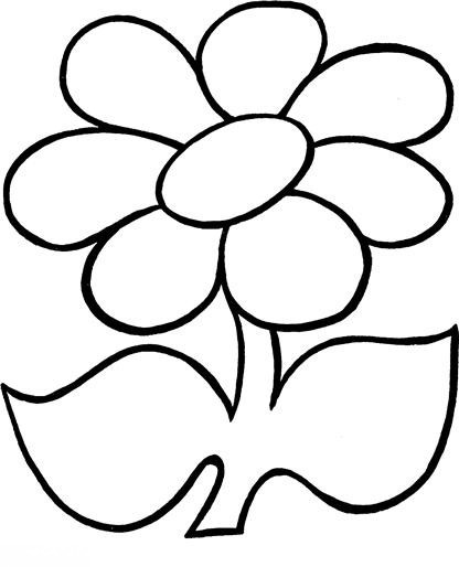 Цветок раскраска для самых маленьких