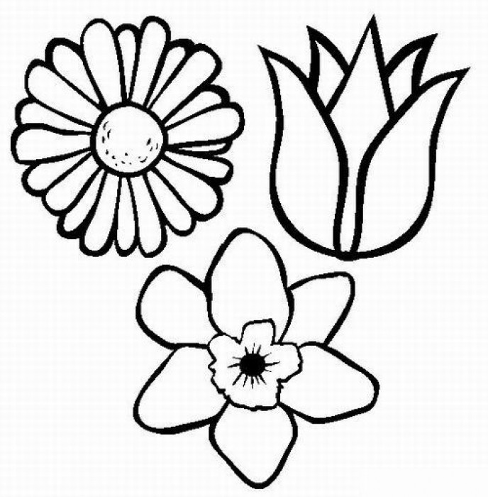 Днем рождения, картинки трафареты для детей цветы