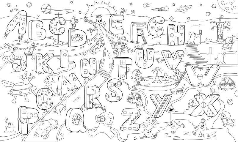 Картинки к английскому алфавиту раскраски