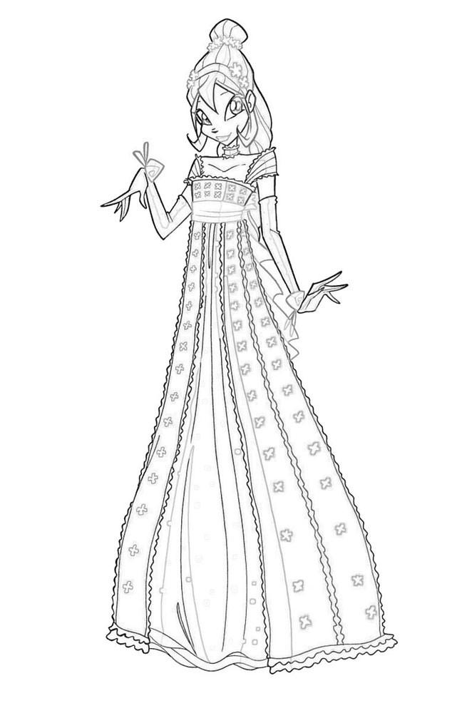 винкс принцесса раскраска для девочек край друзей