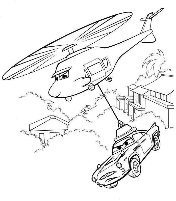 раскраска тачку переносят на вертолёте край друзей