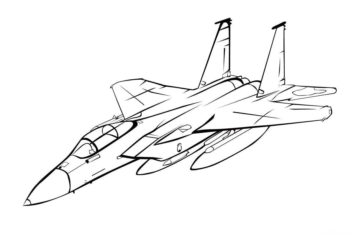 раскраска самолет макдоннел дуглас F 15 игл край друзей