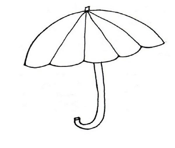зонтик картинка раскраска для детей