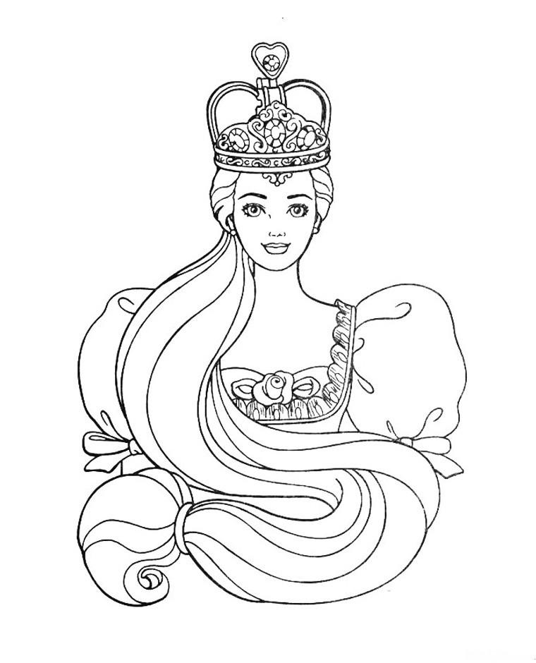 принцесса барби раскраска для девочек край друзей