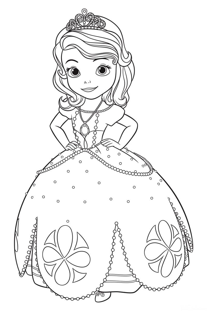 раскраска принцесса софия край друзей