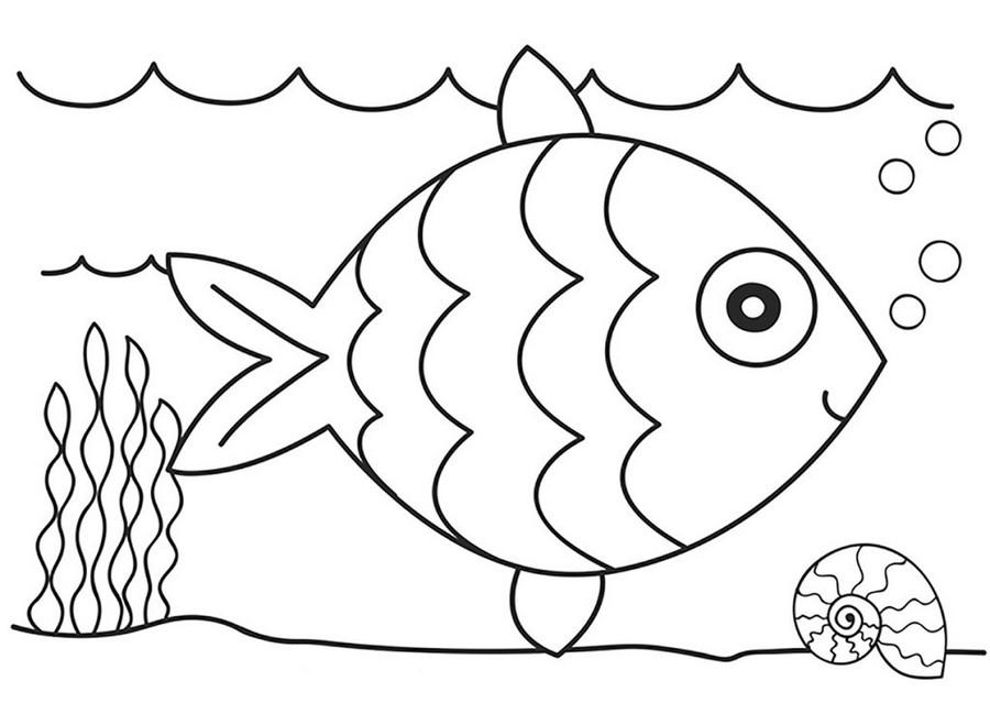 рыбка раскраска для детей 2 3 лет край друзей