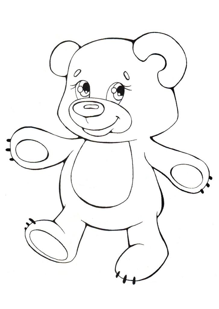 Картинки раскраски про медведя