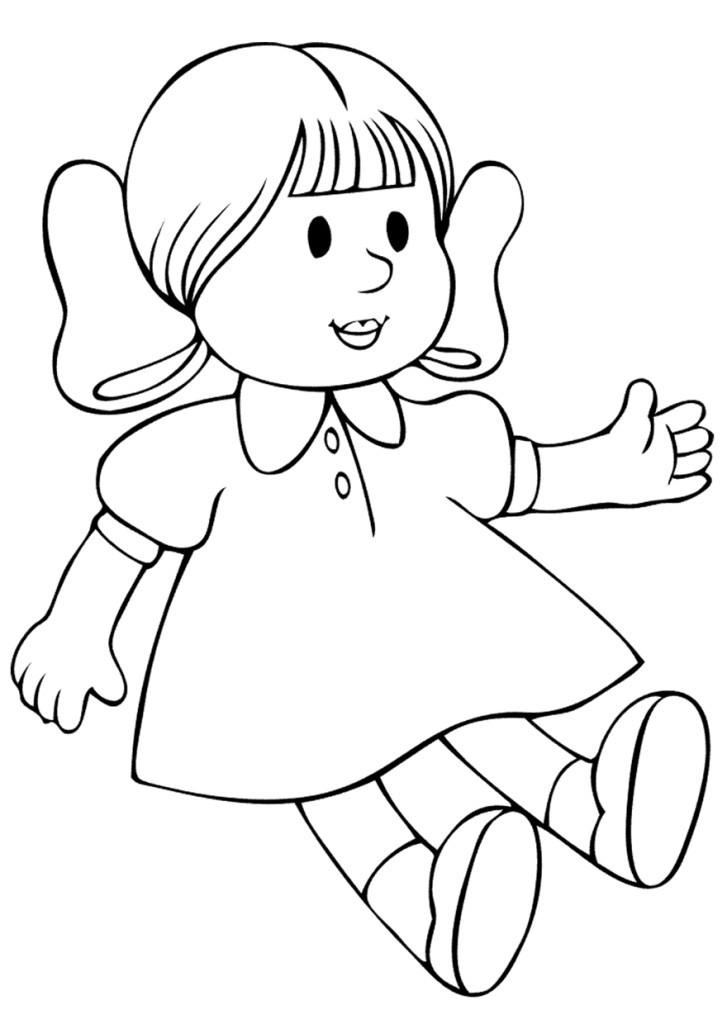 кукла раскраска для детей 3 4 лет край друзей