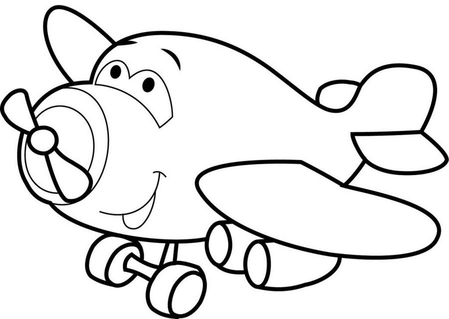 Раскраска Самолетик для детей 3,4 лет — Край друзей