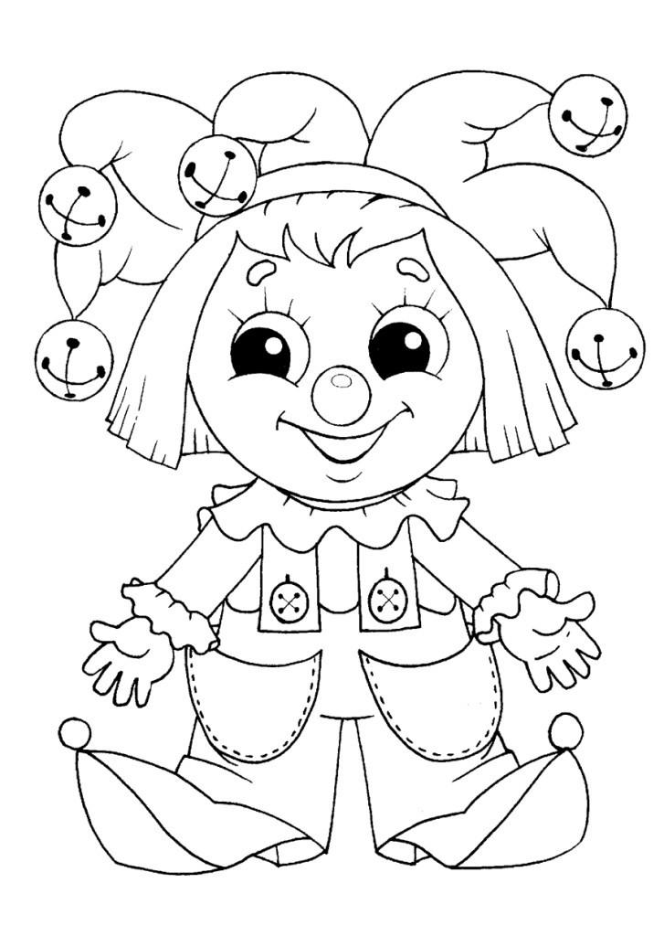 Раскраска Петрушка для детей 3,4 лет — Край друзей