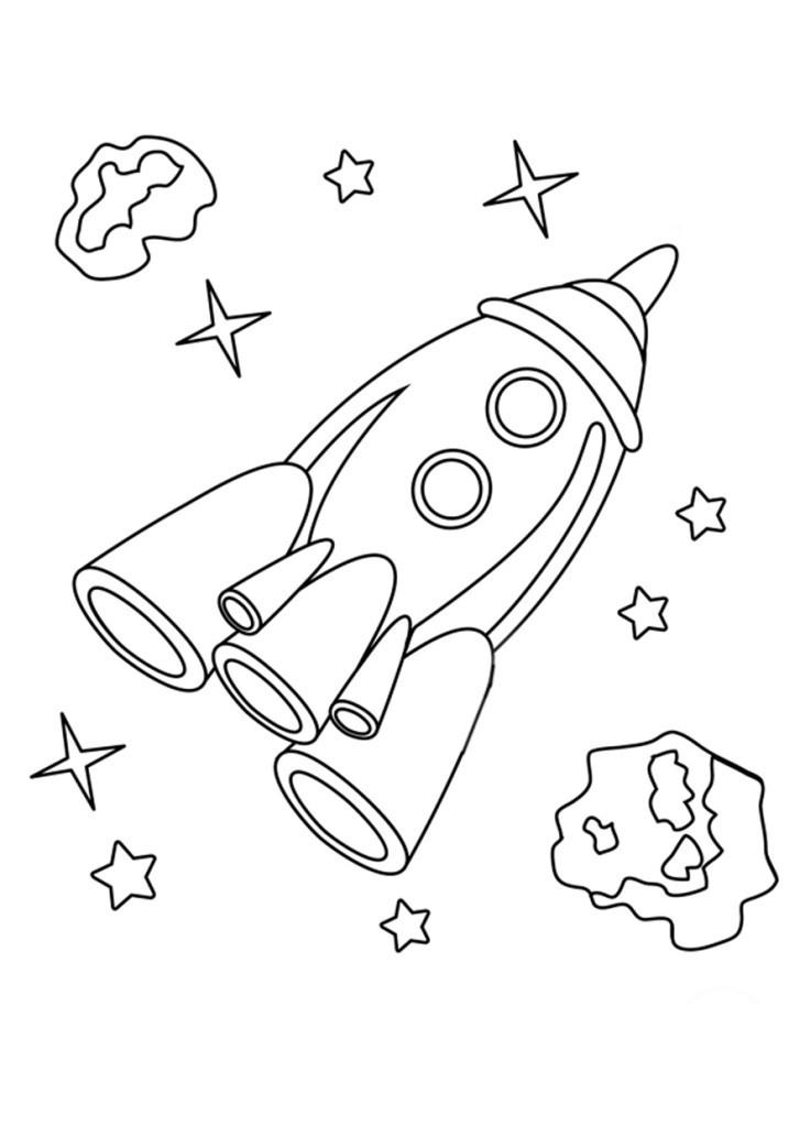 Раскраска ракеты космос