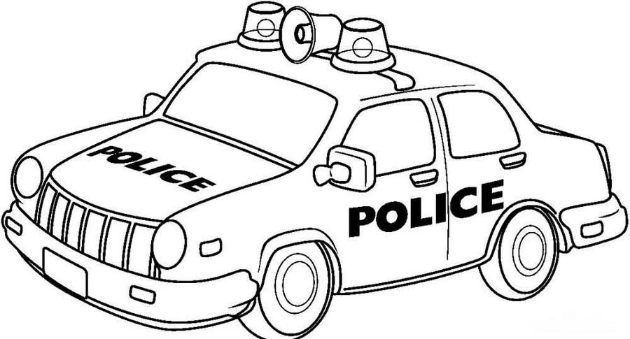 Раскраска Полицейская машина для мальчиков 4, 5 лет — Край ...