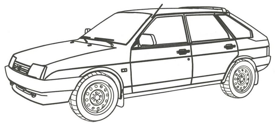 Раскраска ВАЗ-2109 для мальчиков 4, 5 лет — Край друзей