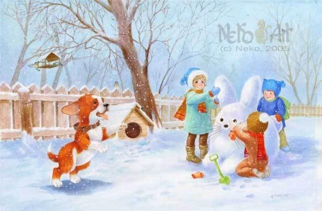 картинку про зиму для детей официального